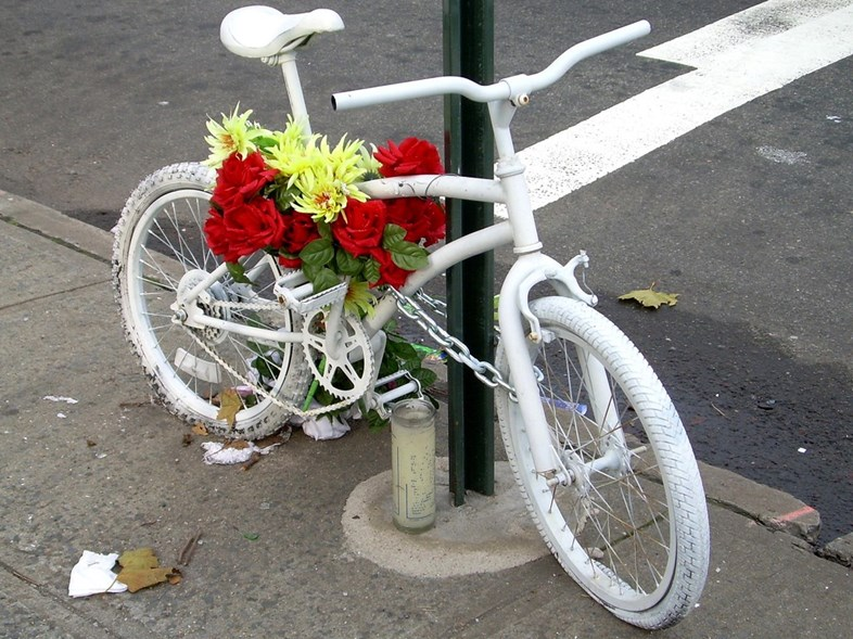 Bicycle Safety & A Ghost Bike Tribute