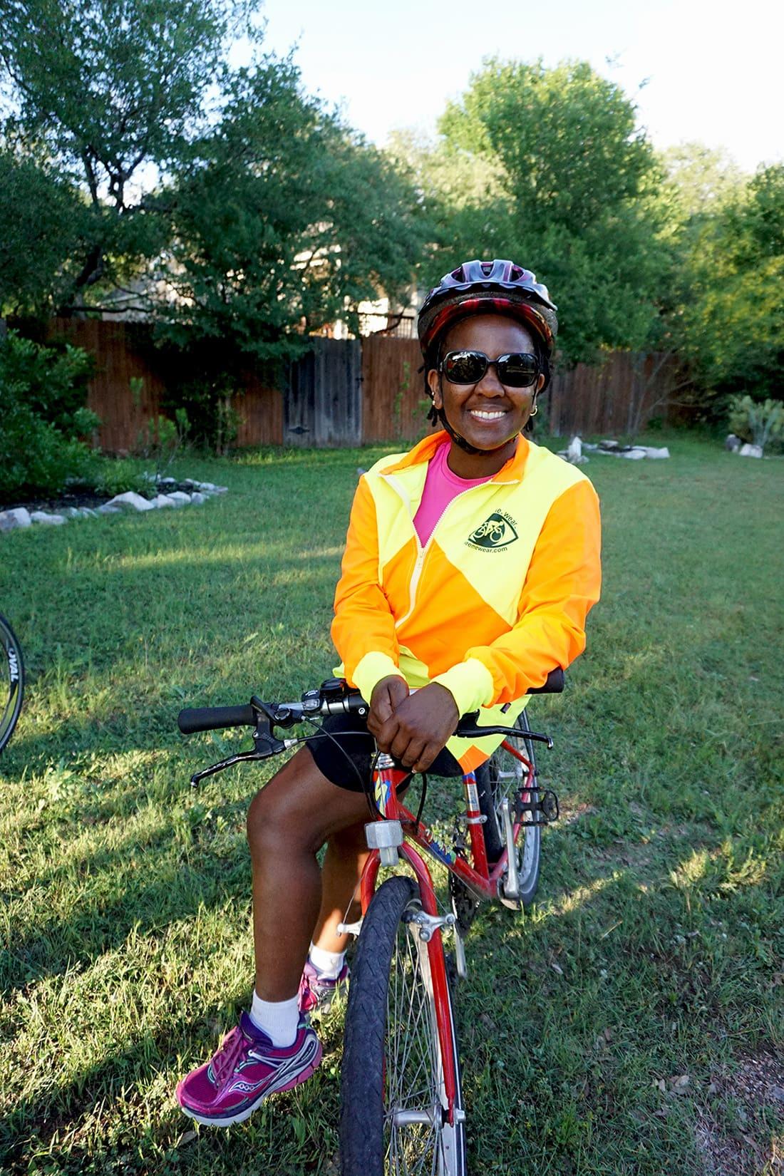 high vis cycling jacket