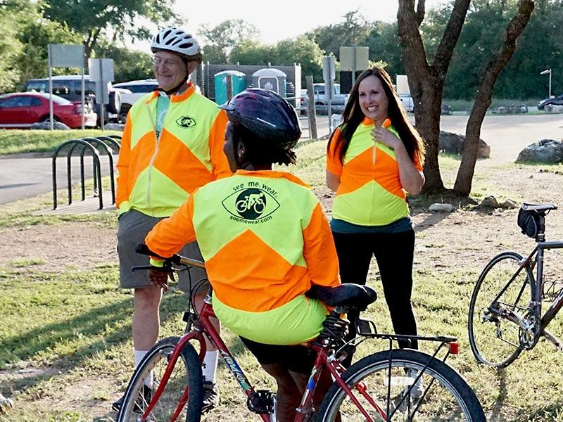 yellow cycling jacket
