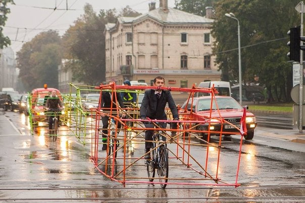 Latvian Cyclist Protest Traffic Issues